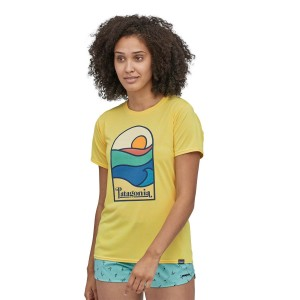 Tricou Femei Patagonia Capilene Cool Daily Graphic Shirt Pineapple (Galben)