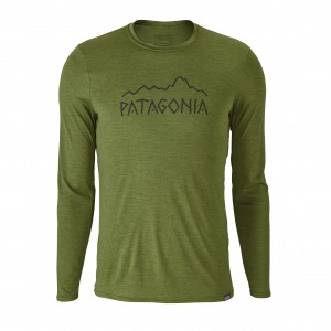 Bluza First Layer Patagonia Cap Daily L/S Graphic M Verde