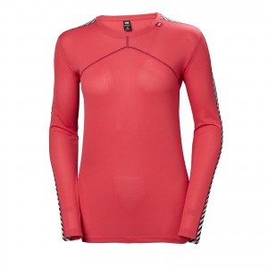 Bluza First Layer Femei Helly Hansen Hh Lifa Crew Rosu