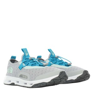 Pantofi Drumetie Femei The North Face W Skagit Water Shoe High Rise Grey/Caribbean Sea (Gri)