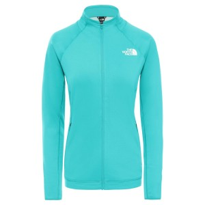 Polar Drumetie Femei The North Face W Impendor Full Zip Hexagon Midlayer Jaiden Green (Turcoaz)