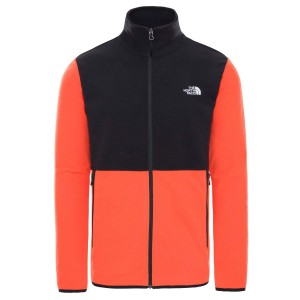 Polar Drumetie Barbati The North Face M Tka Glacier Full Zip Jkt Flare/Tnf Black (Portocaliu)