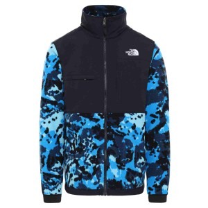 Polar Drumetie Barbati The North Face Denali 2 Jkt Clear Lake Blue Digi Top Flc2 Print (Albastru)