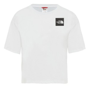 Tricou Casual Femei The North Face Cropped Fine Tee Alb