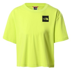 Tricou Casual Femei The North Face Cropped Fine Tee Lime