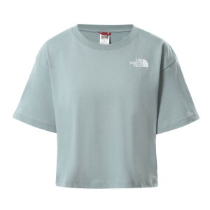 Tricou Casual Femei The North Face CROPPED SIMPLE DOME TEE Gri