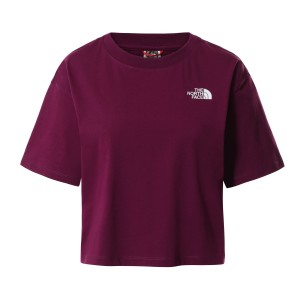 Tricou Casual Femei The North Face CROPPED SIMPLE DOME TEE Mov