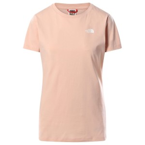 Tricou Casual Femei The North Face S/S Simple Dome Tee Roz