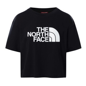 Tricou Casual Femei The North Face Cropped Easy Tee Negru