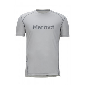 Tricou Hiking Marmot Windridge with Graphic SS M Gri