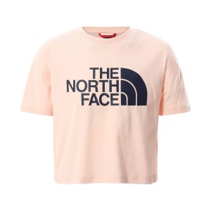 Tricou Casual Copii The North Face Girl'S S/S Easy Crop Tee Roz