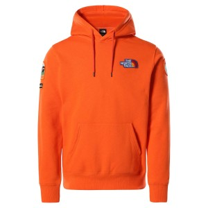 Hanorac Casual Barbati The North Face Novelty Patch Pullover Hoodie Portocaliu