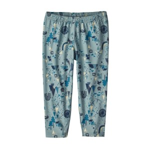 Pantaloni First Layer Copii Hiking Patagonia Capilene Albastru / Print
