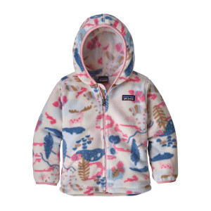 Hanorac Polar Copii 0-5 ani Patagonia Baby Synch Cardigan Wander the Woods / Hawthorne Blue (Multicolor)