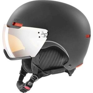 Casca Ski si Snowboard Unisex Uvex Hlmt 500 Visor Dark Slate Orange Mat (Antracit)