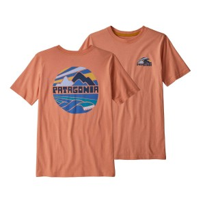 Tricou Drumetie Copii Patagonia Boys' Graphic Organic T-Shirt Mellow Melon (Caramiziu)
