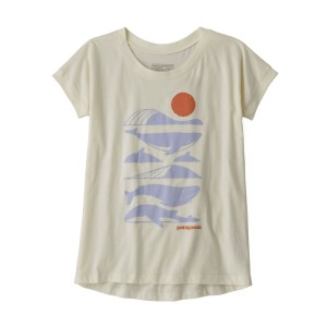 Tricou Drumetie Copii Patagonia Girls' Graphic Organic T-Shirt White Wash (Alb)