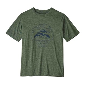 Tricou Drumetie Copii Patagonia Boys' Capilene Cool Daily T-Shirt Kale Green X-Dye (Verde)