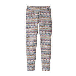 Pantaloni First Layer Copii 5-14 ani Patagonia Girls' Capilene Bottoms Tailored Grey (Multicolor)