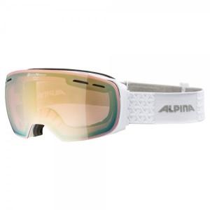 Ochelari Ski Si Snowboard Unisex Alpina Granby QVMM White/Lightgold Sapphire Alb
