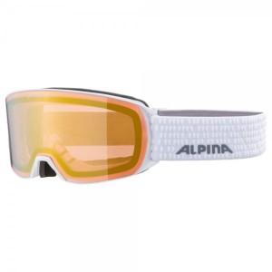 Ochelari Ski Si Snowboard Unisex Alpina Nakiska QVMM White/Gold Sapphire Alb