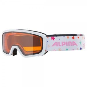 Ochelari Ski Si Snowboard Unisex Alpina Scarabeo Jr DH White-Rose Alb