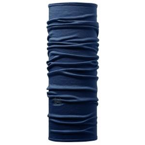 Neck Tube Buff Lightweight Wool Solid Denim