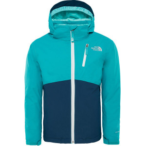 Geaca Copii Ski si Snowboard The North Face Snowquest Plus Turcoaz