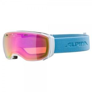 Ochelari Ski Si Snowboard Unisex Alpina Estetica QHM White-Skyblue/Gold Saphire Alb