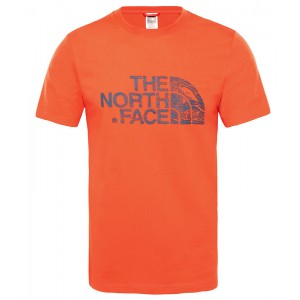 Tricou Barbati The North Face Woodcut Dome Rosu