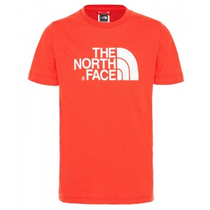 Tricou Juniori The North Face Easy Rosu