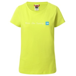 Tricou Casual Femei The North Face S/S Never Stop Exploring Tee Lime