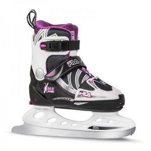 Patine Skates Fila X-One Jr. Negre/Roz
