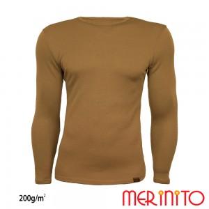 Bluza First Layer Barbati Merinito 200g/mp Bej