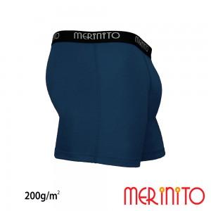 Lenjerie Merinito Boxer Briefs 100% lana merinos 200G M Albastru