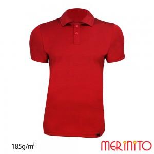 Tricou Merinito Polo Jersey 185G M Rosu