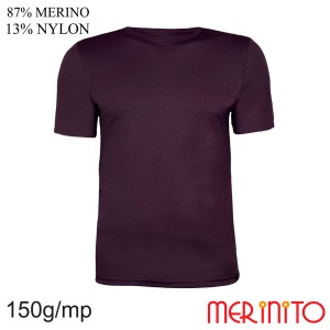 Tricou Barbati Merinito 150G 87% Lana Merinos 13% Nylon Violet