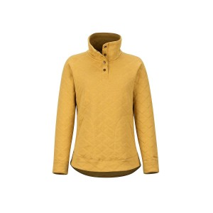 Bluza Femei Marmot Roice Pullover LS Yellow Gold Heather (Galben)