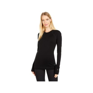 Bluza First Layer Femei Smartwool Merino 250 Base Layer Crew Boxed Black (Negru)