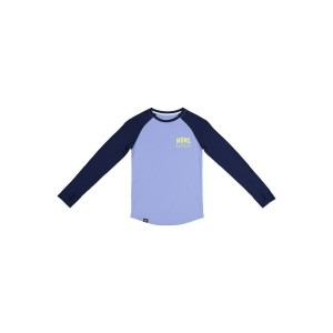 Bluza First Layer Copii Mons Royale Groms Ls Navy / Blue Fog (Multicolor)