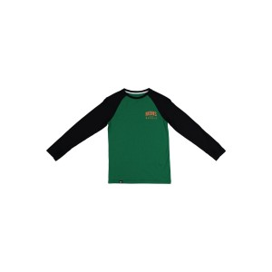 Bluza First Layer Copii Mons Royale Groms Ls Pine / Black (Multicolor)