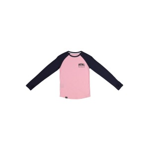 Bluza First Layer Copii Mons Royale Groms Ls Rosewater / 9 Iron (Multicolor)