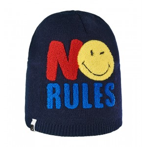 Caciula Brekka No Rules Smiley Beanie Bleumarin