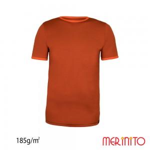 Tricou First Layer Merinito 100% lana merinos 185G K Portocaliu