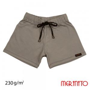 Pantaloni Scurti Merinito Shorties 230G K Gri