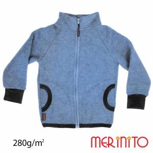 Bluza Copii Merinito Soft Fleece Lana Merinos Albastru