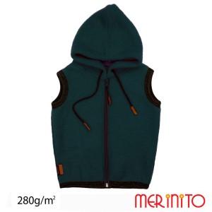 Vesta Copii Merinito Soft Fleece 100% Lana Merinos Turcoaz