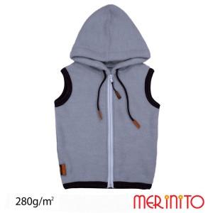 Vesta Copii Merinito Soft Fleece 100% Lana Merinos Albastru