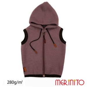 Vesta Copii Merinito Soft Fleece 100% Lana Merinos Mov
