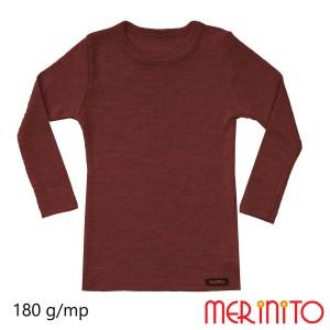 Bluza Copii Merinito Rib Pointelle 100% Lana Merinos Maro